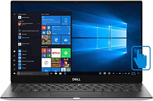 Dell XPS 13 7390 Thin and Light 13.3' InfinityEdge Touchscreen Laptop, Newest 10th Gen Intel i5-10210U up to 4.2GHz, 4GB RAM, 128GB PCIe SSD, Wi-Fi, Webcam, Fingerprint Reader, Windows 10 Home