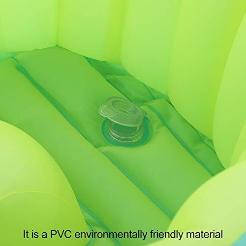 Bañera para bebés, PVC para niños Bañera Inflable portátil Plegable Exquisito con Respaldo de 45 Grados para Tomar un baño para bebés y niños para bebés para Productos de baño(L)