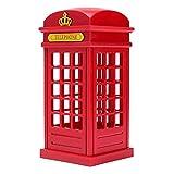 Lámpara Mesilla,Cabina Telefónica Vintage Londres Diseñado de Lampara de Mesa,Touch Sensor Regulable USB(Con Batería),Estudiantes Dormitorio iluminación Casa Bar Decoración Novedad Vacaciones Regalo