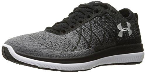 Under Armour Women's Threadborne Fortis Running Shoe, Black (001)/Stealth Gray, 10
