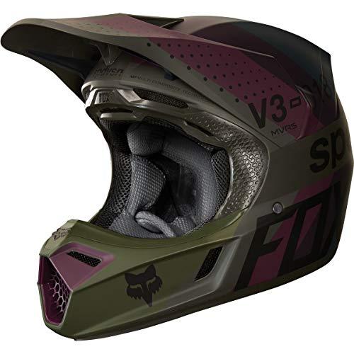 6. 2018 Fox Racing V3 Draftr Helmet-Blue-L