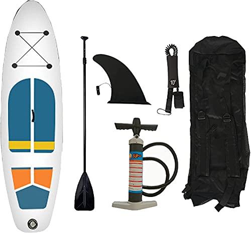 WEUN Stand Up Paddle Board Inflable, Calidad Big Board para La Pesca De Yoga Y Surf, Incluidos Todos Los Accesorios Incluye La Mochila Ajustable De La Mochila Antideslizante Y La Bomba De Man