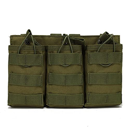 QIANJINGCQ Outdoor tactical triple magazine bag field accessory bag sundries bag storage bag walkie talkie bag magazine bag backpack