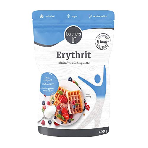 borchers 100 % Erythrit, Zuckeralternative, Kalorienfrei, Erythritol, Aus Frankreich 400 g