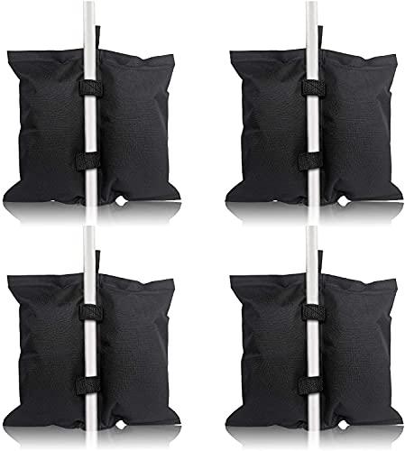 Froadp Juego de 4 sacos de arena Pavillion de alto rendimiento, doble costura, bolsa de arena para tienda de campaña, calidad industrial, patas de pabellón, bolsa negra