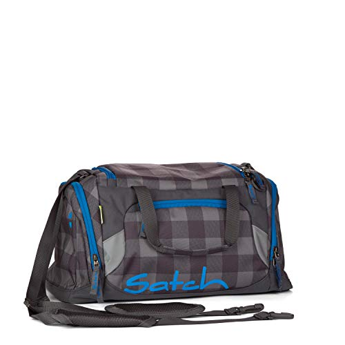 SATCH Checkplaid Kinder-Rucksack, Checkered Grey/Black