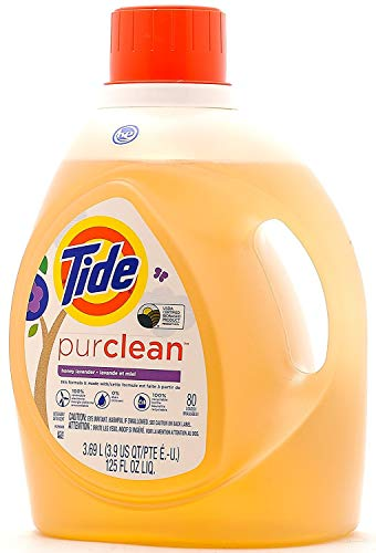 Tide PurClean Liquid Laundry Detergent for Regular and HE Washers, Honey Lavender Scent, 125 oz (80 Loads)