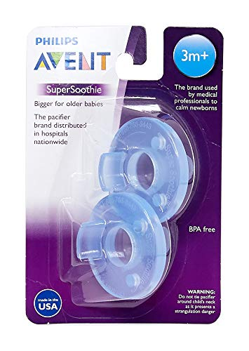 Philips Avent Soothie Pacifier, 3+ months, blue/blue, 2 Pack, SCF192/06