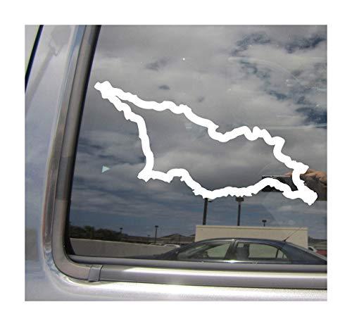 Lplpol Georgia Country Outline GE Tbilisi Caucasus Eurasia Cars Trucks Casco duro Auto Automóvil Craft Laptop Vinilo adhesivo de pared para ventana de tienda 6'