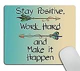 Wasach Alfombrilla de ratón para videojuegos, personalizada, con cita inspiradora y citas motivacionales para el trabajo