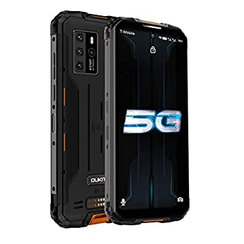 Rugged Smartphone OUKITEL 5G Unlocked for All Carriers Cell Phone WP10 48MP Sony Camera Support Shooting 4K Video  8GB +128GB 8000mAh Battery IP68 & IP69K Protection 6.67 Inch FHD Screen  Orange