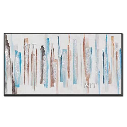 ZNYB Impresiones sobre Lienzo Pintura al óleo Abstracta Pintada a Mano sobre Lienzo Cuadro de Arte de Pared Moderno decoración del hogar para Dormitorio Pinturas sin Marco