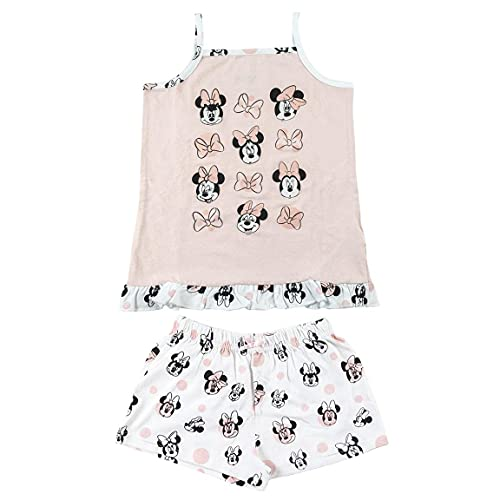 CERDÁ LIFE'S LITTLE MOMENTS Rosa Pijama Tirantes Minnie Mouse Niña de Color Licencia Oficial Disney, 4 años para Niñas