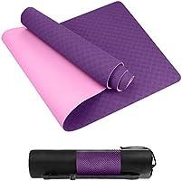 Homtiky Tappetino Yoga,Yoga Mat Fitness Pilates e Palestra Imbottito e Antiscivolo con Dimensione 183 x 62 x 0.6 cm