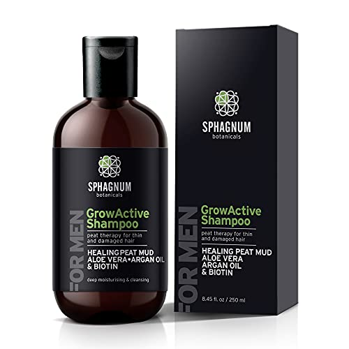 Hair Growth Shampoo For Men - Natural Biotin Boost with Argan Oil and Peat...