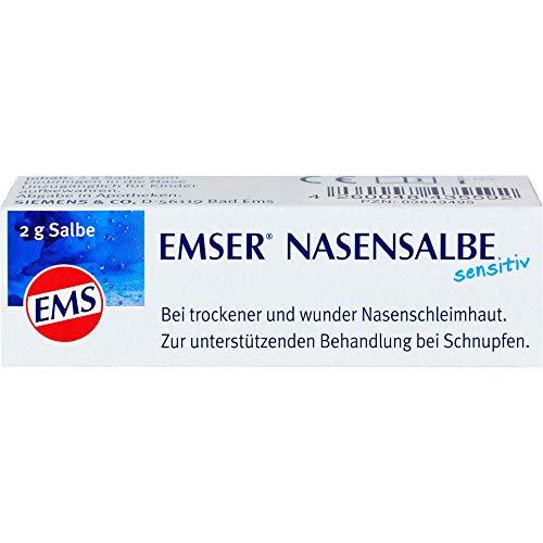 EMSER Nasensalbe sensitiv bei trockener und wunder Nasenschleimhaut, 2 g Salbe
