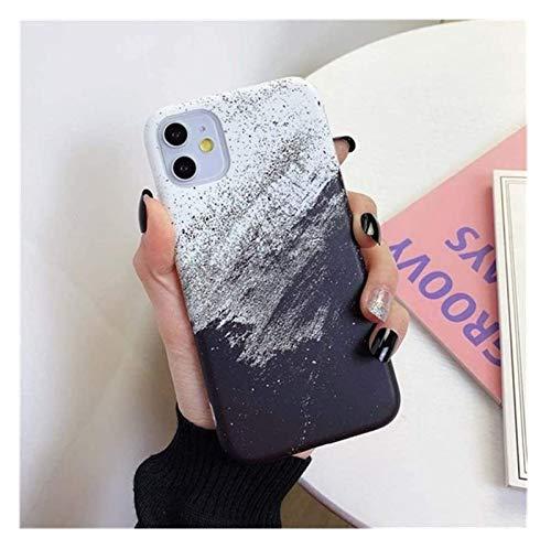 TSYGHP Funda de teléfono de textura de piedra de mármol para iPhone 11, silicona a prueba de golpes anti-caída cáscara grado resistente colorido suave silicona cubierta protectora capa teléfono