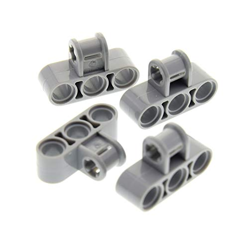 4 x Lego Technic Verbinder neu-hell grau T Winkel 3 Loch Stein Pin Halter Star Wars 10224 9449 70224 8053 75192 45560 75112 63869