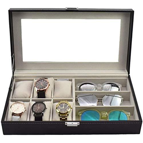 ANZRY Caja de Almacenamiento de Reloj Vitrina de Exhibición de Joyería para Hombres o Mujeres Caja de Reloj Organizador de Almacenamiento Vidrio de Alta Definición