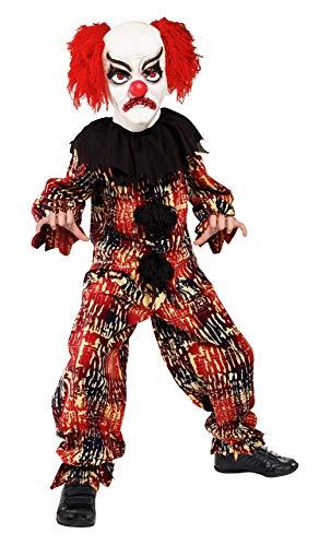 Smiffys Costume clown effrayant, avec haut, pantalon & masque
