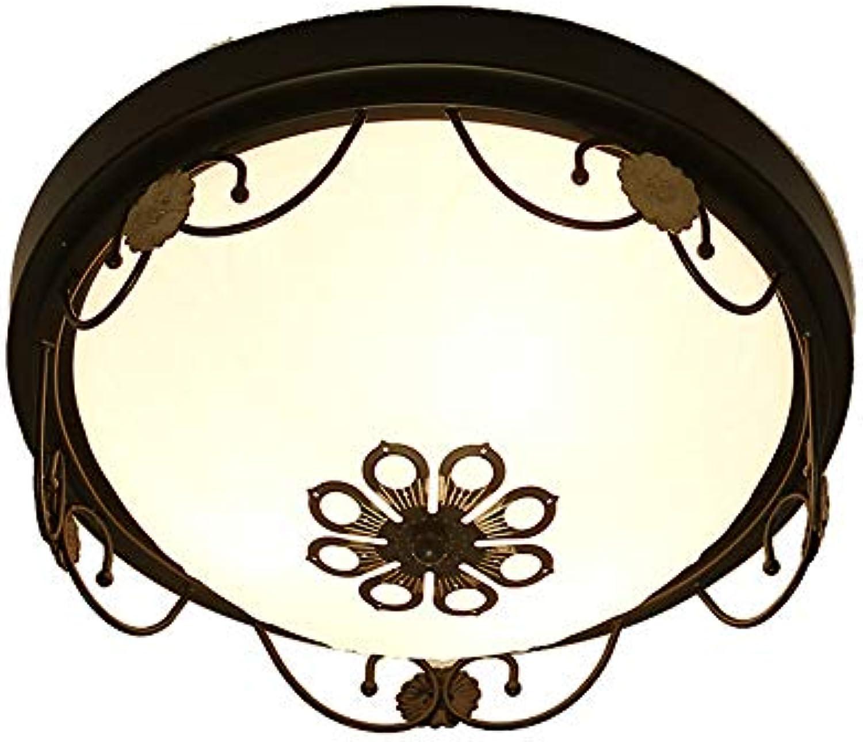 Retro Rund Deckenlampe Dekor Licht Deckenlampe Glas Deckenleuchte Wohnzimmer Deckenbeleuchtung Wohnzimmer Schlafzimmer Gang Dekoration Anhnger Deckenleuchten Gangbeleuchtung