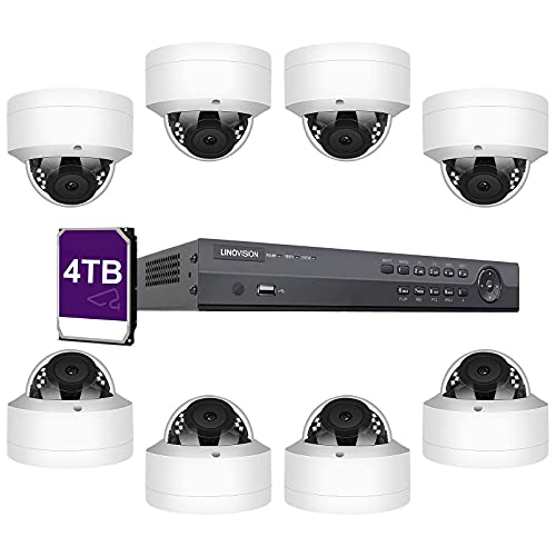 LINOVISION 4K 16 Channel Security Camera System 8 8MP PoE Commercial...