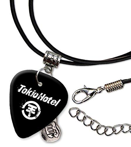 Tokio Hotel Band Logo Gitarre Plektrum Schnur Halskette Necklace (H)