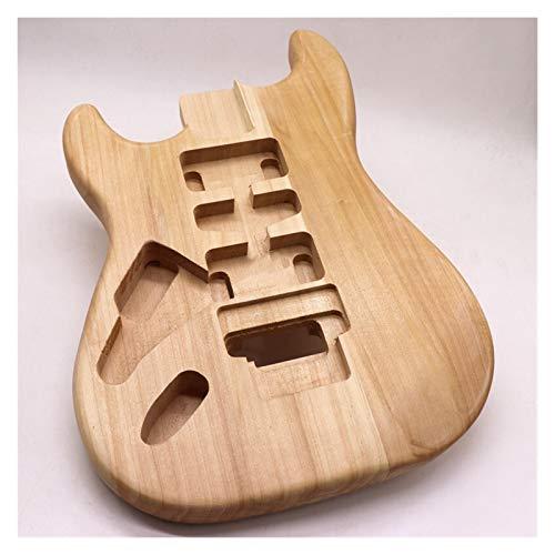 GIAOGIAO Linker Hand Gitarre Körper Unfertigter Pappel-Holz-Gitarren-Fass DIY E-Gitarre-Parts E-Gitarre-Zubehör