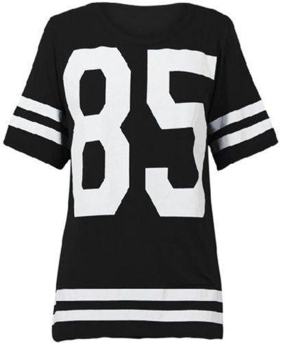 Mix_lot des Nouvelles Femmes Dames américain Maillot de Football de Haut 85 Impression t-Shirt Casual Wear Taille...