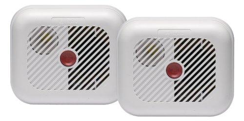 Ei Electronics rökalarm och testknapp med batterier – tvåpack