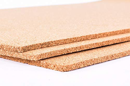 Fine Grain Cork Sheets 12in X 36in X 1/8in-3 Pack