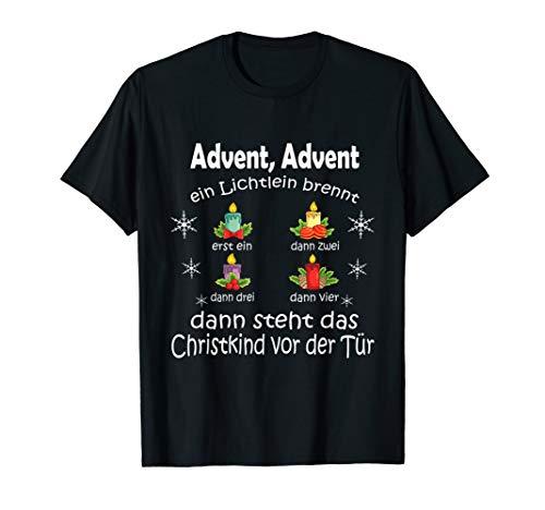 Advent Advent Gedicht Weihnachten Kirche Christmas T-Shirt