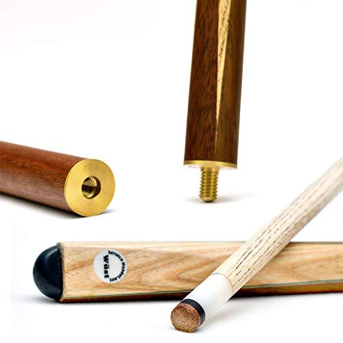 store HD Billard Queues Set 2 x Billard Queue aus edlem Holz 2-teilig - 147 cm langer Billiard Queue - Hochwertiger Billard Kö für Pool, Snooker und Carambolage (2 Stück)