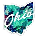 Chili Print Ohio - Sticker Graphic Bumper Window Sicker Decal - State Love Sticker