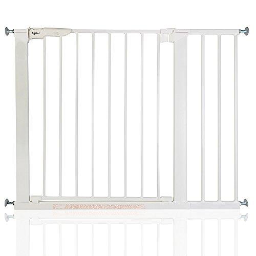 BabyDan Premier - Bebé Puerta de la Escalera Barrera de Seguridad Blanco, 92,5 - 99,8cm