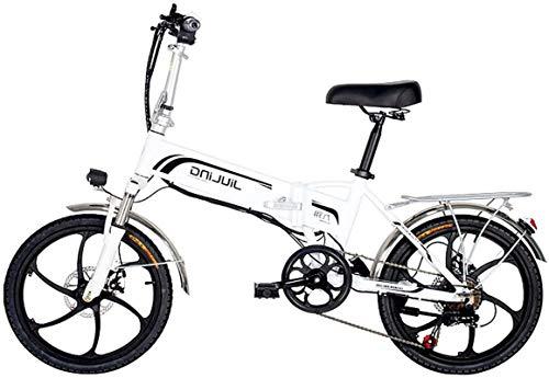 RDJM Bici electrica Plegable Bicicleta eléctrica E-Bici, 20