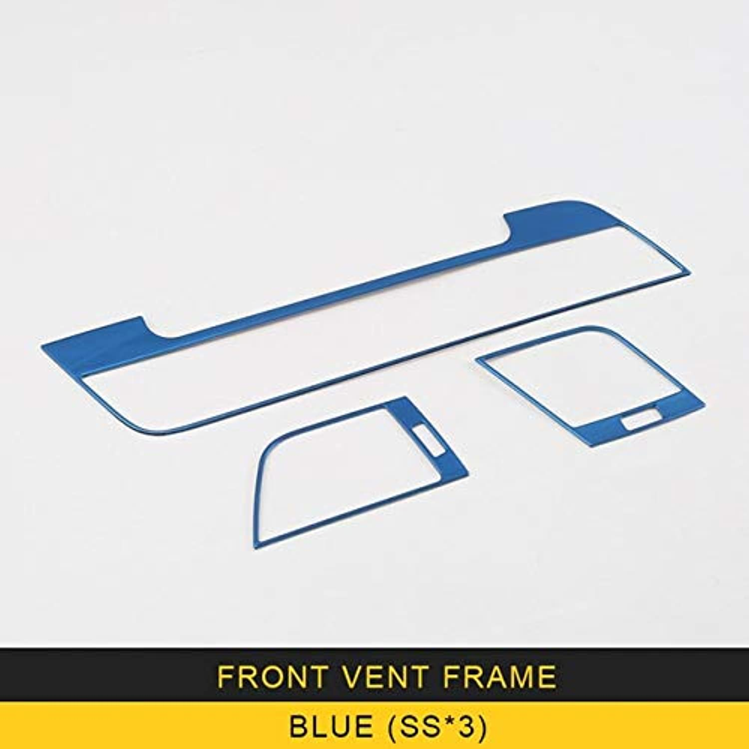 Stainless Steel Front airCondition Vent Frame Trim Cover for Audi Q5 2018 Accessories  (color Name  blueeeX3)