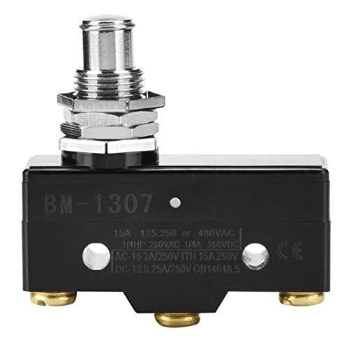 Interruptor de límite, microinterruptor de 1 pieza, interruptor de acción a presión en miniatura Interruptor de acción a presión para protección de seguridad Tipo de corriente grande(Bay BM-1307)