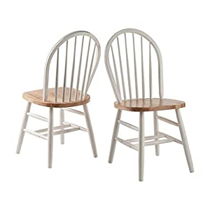 41mIOKUNjFL. SS300  - Winsome Wood Windsor Chairs, 2-PC, RTA, Natural Finish