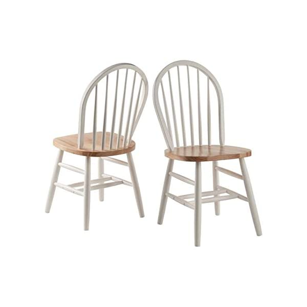Winsome Wood Windsor Chairs, 2-PC, RTA, Natural & White