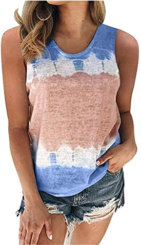 Ranhkdn Tops para mujer Verano Cuello Redondo Camiseta Casual Gradiente Impreso Pullover Top Manga Corta Camisa Túnica