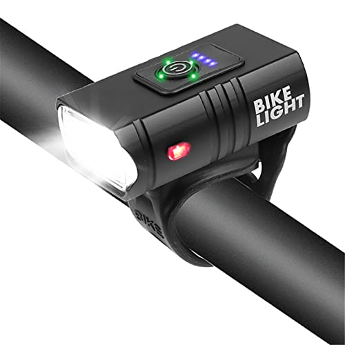 ADGH LED Bicycle Light,Smart Induction Bicycle Front Light Set USB Rechargeable Front Headlight Bike Lamp Cycling Flashlight for Bike Fits All Mountain & Road Bike
