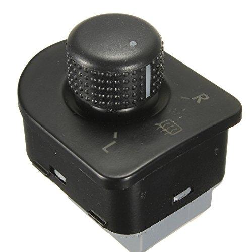 TGJYK Controlador de Interruptor de Espejo Lateral del Coche Control de Calor/Ajuste para VW Golf/Ajuste para Jetta MK4 GTI / R32 1998-2006 Piezas de Repuesto automático (Color : Black)