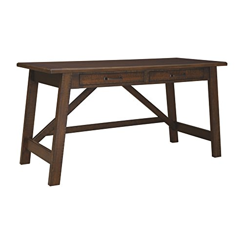 Ashley Furniture Signature Design - Baldridge Large Leg Home Office desk - Rustic - Brown