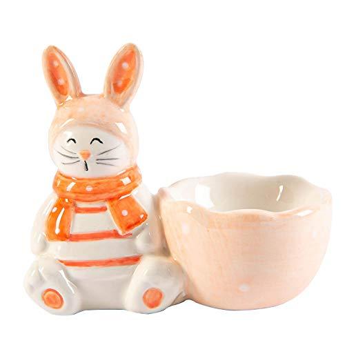 Nicola Spring Pascua conejito Huevera - Pintado bufé Partido Utensilios para servir Vajilla Mano - 9 cm - rosa