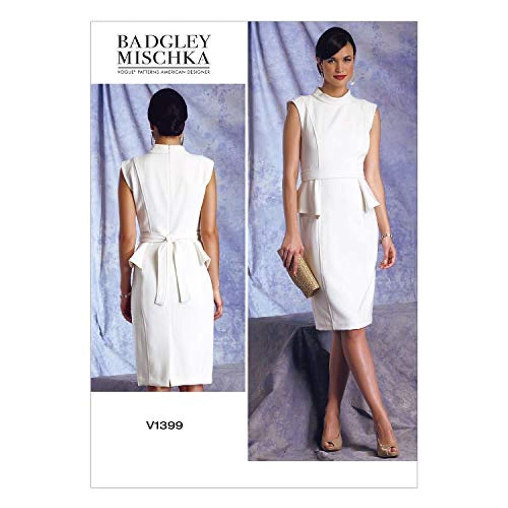 Vogue Patterns V1399 Misses' Dress and Belt Sewing Template, Size A5 (6-8-10-12-14)