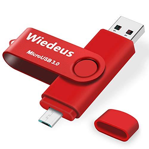Memoria USB 3.0 128GB Micro USB Doble Conector, Wiedeus Unidad Flash USB...