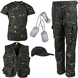 Kombat UK Kid's Explorer Army Kit, BTP Black, 11-12 Years
