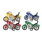NUOBESTY 4 Stück Pull Back Motorrad Mini Motorrad Modell Rennmotorrad Fahrzeuge Spielzeug für Baby...