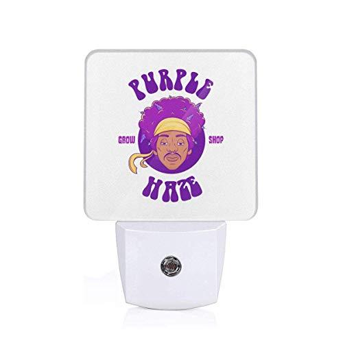 Purpl Grow Shop Hrze Hendrix Luz LED de noche, lámpara de sensor automático del atardecer al amanecer para dormitorio, baño, cocina, pasillo, escaleras